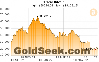 Bitcoin Price Chart - 1 Year Historical Bitcoin Price Chart