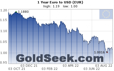 GoldSeek.com provides you with the information to make the right decisions on your EUR 1 Year investments