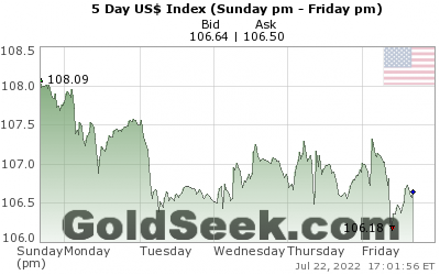 GoldSeek.com provides you with the information to make the right decisions on your US$ Index 5 Day investments
